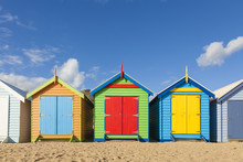 Bathing Boxes In A Beach With ...
