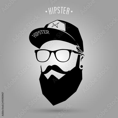 Fotografie, Obraz  hipster men cap