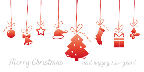 Fototapeta christmas card graphic elements #set11