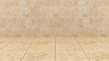 Travertine Marble Floor And Tr...