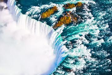 Fototapeta Optyczne powiększenie Aerial view of canadian niagara falls