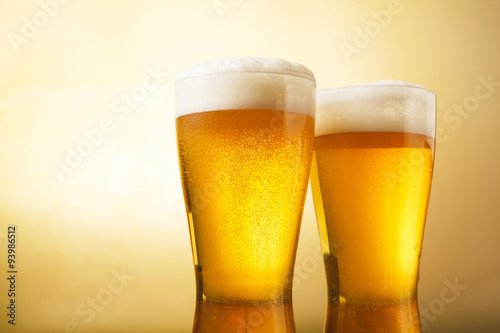 Fotografía  ビール Beer into glass