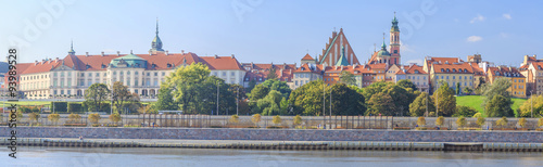 Fototapeta Warsaw - Panorama of Old Town obraz
