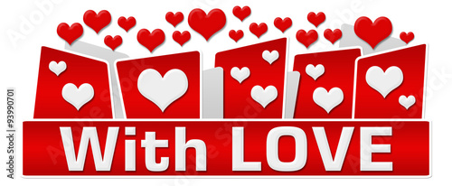 Photo  With Love Red Hearts On Top