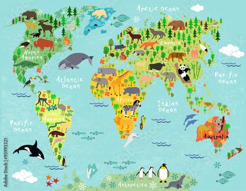 mapa-swiata-zwierzat-specjalnie-dla-dzieci