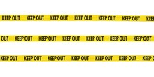 KEEP OUT Tape Lines Isolated O...
