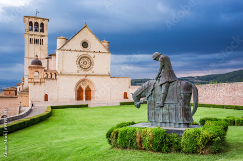 Wonderful basilica in Assisi, Umbria, Italy Canvas Print