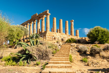 The Temple Of Juno, In The Valley Of The Temples Of Agrigento