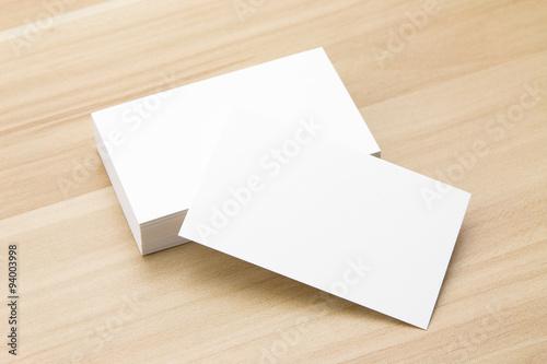 Fotografia  Wizytówka przy biurku