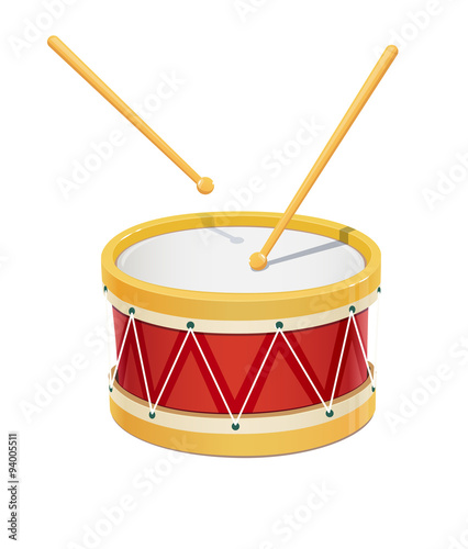 Fotografia Drum. Music instrument. Eps10 vector illustration. Isolated on