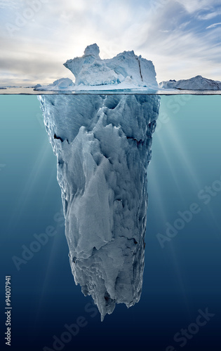 iceberg with underwater view Canvas Print