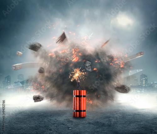 Valokuva  Dynamite exploding