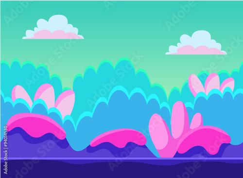 Spoed Foto op Canvas Turkoois Game Background Vector Illustration Set