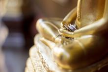 Money In Hand Of Buddha Image