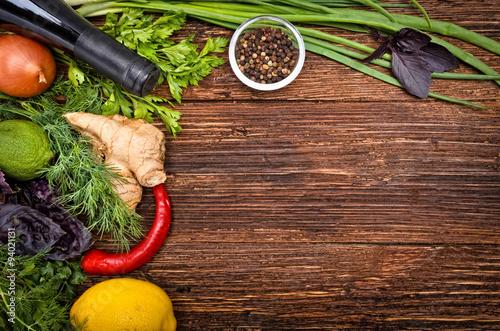 Foto op Plexiglas Koken The concept of cooking. Background.
