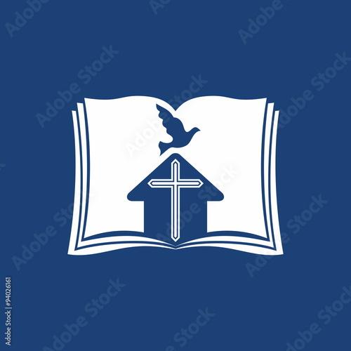 Church logo bible dove church cross buy this stock vector and church logo bible dove church cross thecheapjerseys Gallery