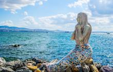 Statue Of Mermaid Situated On Buyukada Island - Part Of Princes Island - Near Istanbul.
