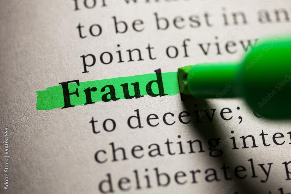 Fototapeta fraud