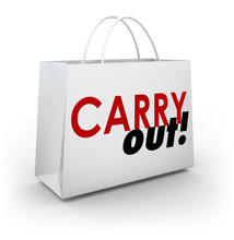 Carry Out Dining Restaurant Shopping Bag Meal To Go