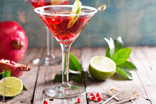 Fotografía  Pomegranate martini with lime