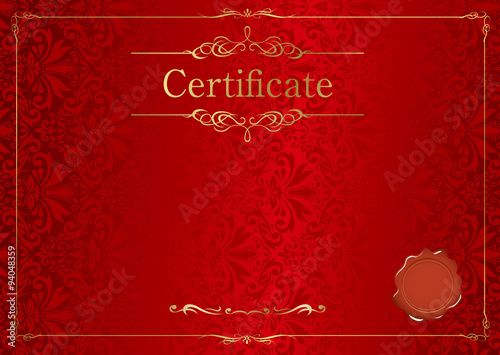 Leinwand Poster retro frame certificate template Vector