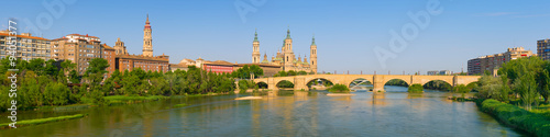 Panorama of Zaragoza