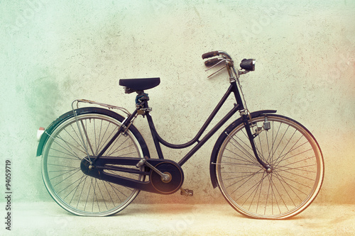 beautiful Old rusty bicycle retro with awesome effect colors on