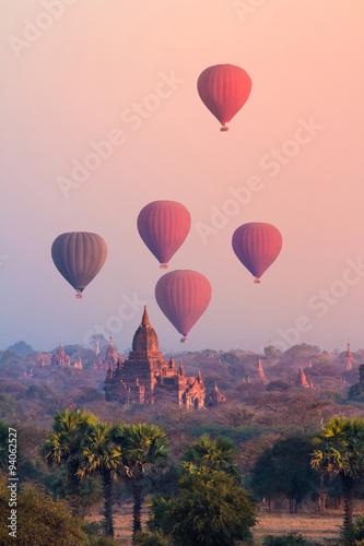 Leinwand Poster Bagan, Myanmar