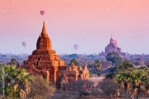 Canvas Prints Light pink Bagan, Myanmar