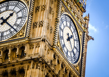 Close-up On Big Ben, The Clock...