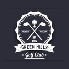 Golf Club Vintage White Logo, ...