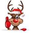 Christmas Rudolph smiling thumps up
