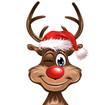 Christmas Rudolph winking