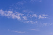 blue sky background with tiny clouds, beauty