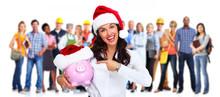 Santa Christmas Business Woman...