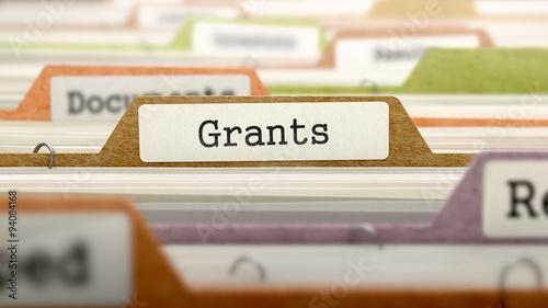 Grants - Folder Name in Directory. Billede på lærred