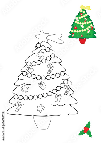 Albero Di Natale 94.Pagina Da Colorare Albero Di Natale Buy This Stock Illustration And Explore Similar Illustrations At Adobe Stock Adobe Stock