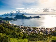 Rio De Janeiro And Guanabara Bay From The Cidade Park In Niteroi