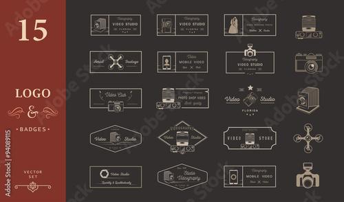 Valokuva  Set of Vector Logos and Badges Video