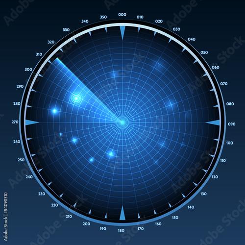 Photo  Radar screen vector