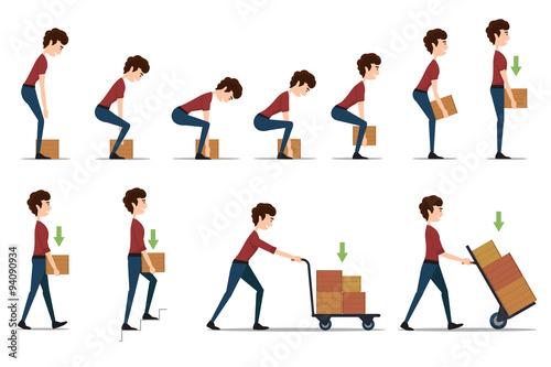 Obraz na płótnie Safe handling and transportation of heavy items