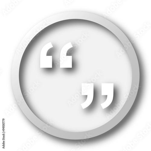 Fotografía  Quotation marks icon