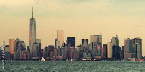 Manhattan downtown skyline Poster