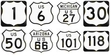 Collection Of Numbered Highway...