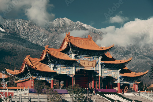 In de dag Beijing Chongsheng Monastery