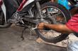Motorcycle tire repair