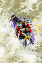 Raft White Water Whitewater Sports Action Summer Whitewater Rafting Boat Community Of 7 People Raft White Water Whitewater Sports Action Summer Ship Cheerful Race Tourist Rafting Team Holiday Spill R