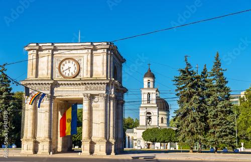 Canvas Print The Triumphal Arch in Chisinau - Moldova
