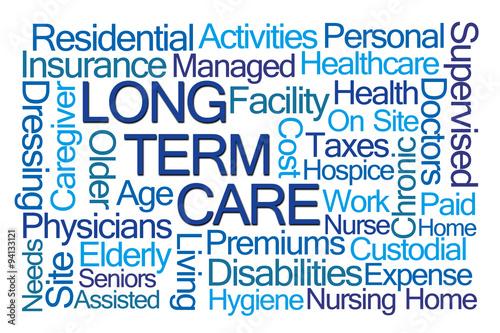 Long Term Care Word Cloud Plakát