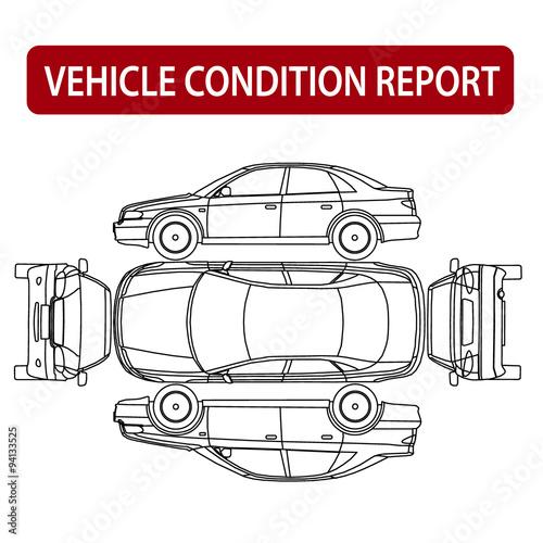 Car Condition Report Vehicle Checklist Auto Damage Inspection